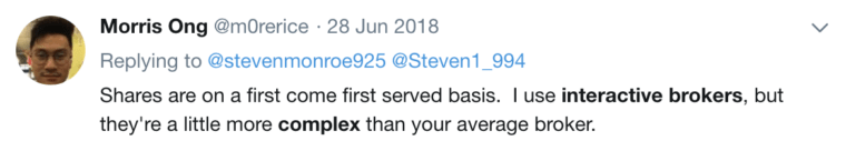 Questrade vs Interactive Brokers Twitter Comment #2