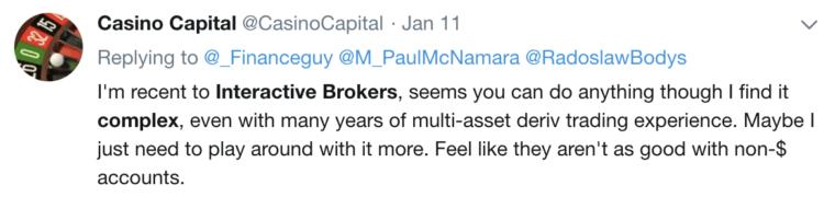 Questrade vs Interactive Brokers Twitter Comment #3