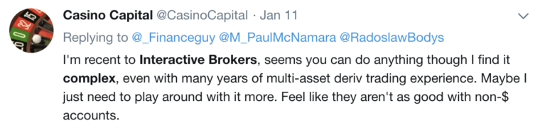 Questrade vs Interactive Brokers Twitter Comment #3