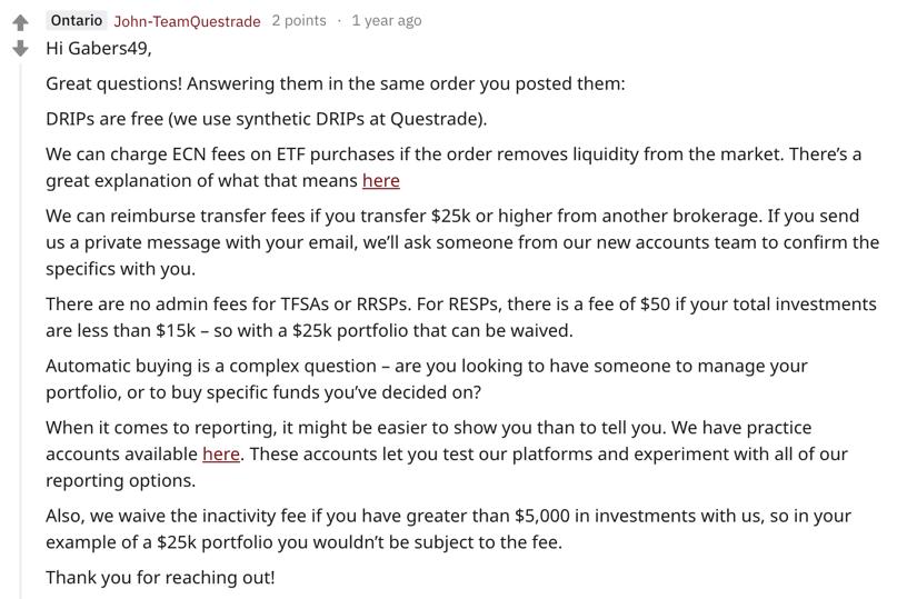 Questrade reddit fees explained