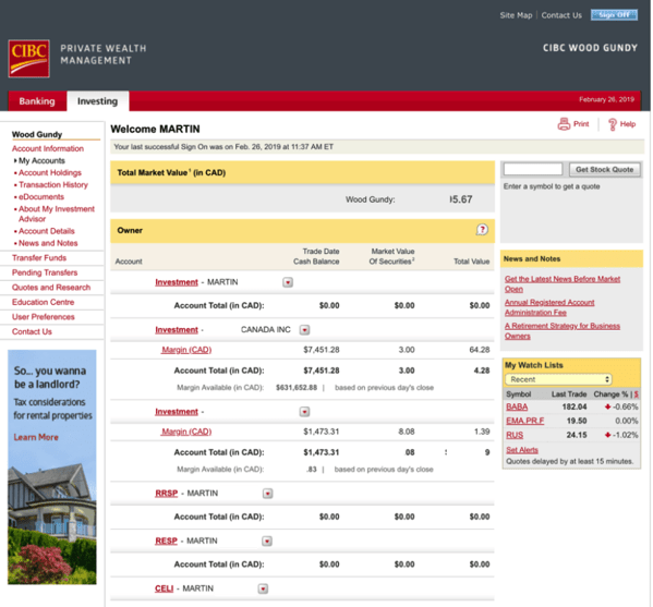 Questrade vs cibc investors edge screenshot 1modified