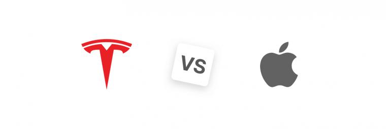 Tesla Stock vs. Apple Stock